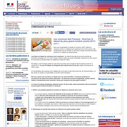 Les vacances des Français : favoriser le départ du plus grand nombre (Juillet 2011