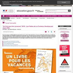 """""""Un livre pour les vacances"""" 2018 : Les Fables de La Fontaine, illustrées par Joann Sfar"""