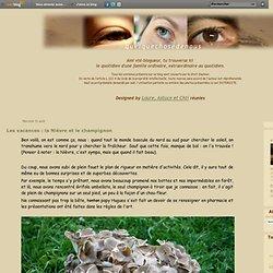Les vacances : la Nièvre et le champignon - Le blog de Tom et Jerry