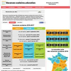 Vacances scolaires 2017 - Calendrier 2016-2017 - Rentrée scolaire 2016