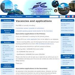 Vacancies and applications