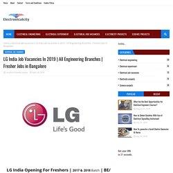 LG India Job Vacancies In 2019
