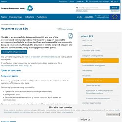 Vacancies at the EEA