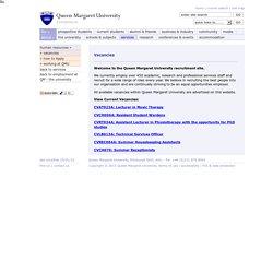 Vacancies - Queen Margaret University