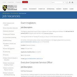 Job Vacancies - University of Wales Trinity Saint David