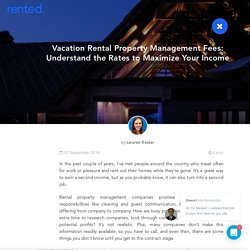 Vacation Rental Property Management Fees: Understand the Rates to Maximize Your Income