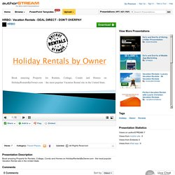 HRBO : Vacation Rentals - DEAL DIRECT - DON't OVERPAY