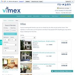 Vimex Vacation Rentals Villas in Playa del Carmen