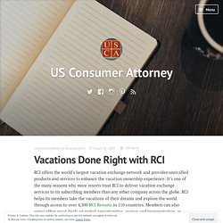 Vacations Done Right with RCI