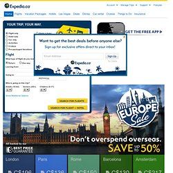 Travel: Vacations, Cheap Flights, Airline Tickets & Airfares