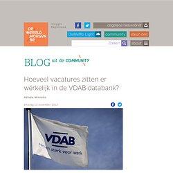 Hoeveel vacatures zitten er wérkelijk in de VDAB-databank? - Blog op DeWereldMorgen.be