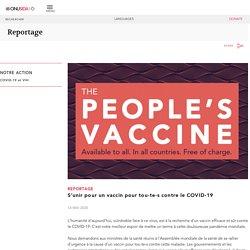 S'unir pour un vaccin pour tou-te-s contre le COVID-19