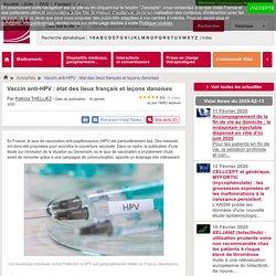 Vaccin anti-HPV : état des lieux français et leçons danoises