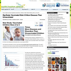 Big Study: Vaccinated Kids 2-5 More Diseases Than Unvaccinated