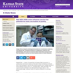 KANSAS STATE UNIVERSITY 07/01/16 New NDV-H5Nx avian influenza vaccine has potential for mass vaccination of poultry