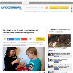 Vaccination: le Conseil constitutionnel confirme son caractère obligatoire