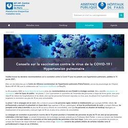 Conseils sur la vaccination contre le virus de la COVID-19 / hôpital Necker, janvier 2021