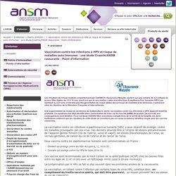 Vaccination contre les infections à HPV et risque de maladies auto-immunes: une étude Cnamts/ANSM rassurante