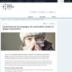Santé publique France - Lancement de la campagne de vaccination contre la grippe saisonnière