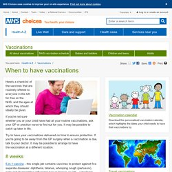 Vaccination schedule - Vaccinations