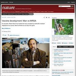 Vaccine development: Man vs MRSA