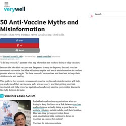 50 Anti-Vaccine Myths and Misinformation