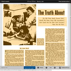 March 5, 1961 - The Truth About the Polio Vaccines
