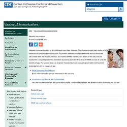 Vaccines: VPD-VAC/Measles - CDC