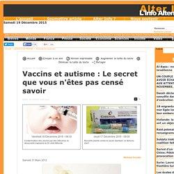 Vaccins et autisme : Le secret que vous n'êtes pas censé savoir