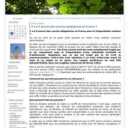 Y a-t-il encore des vaccins obligatoires en France ? : Action Santé Libertés