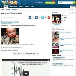 vacunas: fraude letal