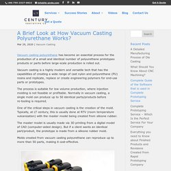 A Brief Look at How Vacuum Casting Polyurethane Works?