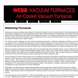 Sintering Furnaces by Webbvacuumfurnaces