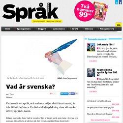 Vad är svenska?