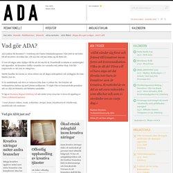 Vad gör ADA?