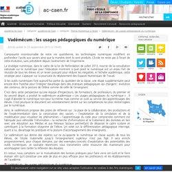Vadémécum : les usages pédagogiques du numérique