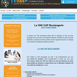 VAE CAP Boulangerie