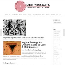 Vaginal Ecology: An Owner's Guide to Care & Maintenance (part 1)