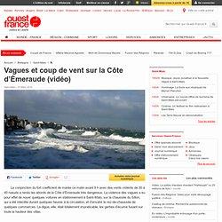 Vagues et coup de vent sur la Côte d'Émeraude (vidéo) - Saint-Ma