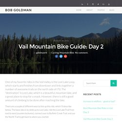 Vail Mountain Bike Guide: Day 2 - Bob Goldman