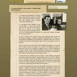 Roger Vailland, Lectura Dossier pédagogique