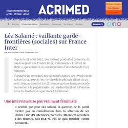 Léa Salamé : vaillante garde-frontières (sociales) sur France Inter