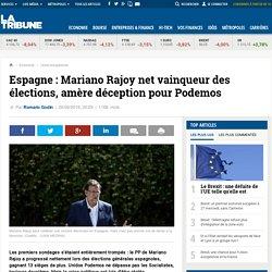 Espagne : Mariano Rajoy net vainqueur des élections, amère déception pour Podemos