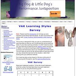 VAK Learning Styles Survey