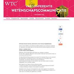 Vakconferentie Wetenschapscommunicatie - Home