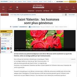 Saint Valentin : les hommessont plus généreux