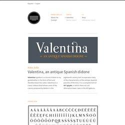 Valentina Typeface — Pedro Arilla
