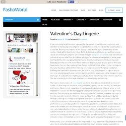 Valentine's Day Lingerie
