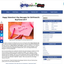 Happy Valentine's Day Messages for Girlfriend & Boyfriend 2017
