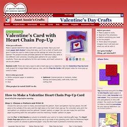 Make a Valentine Heart Chain Pop-Up Card - Valentine's Day Crafts